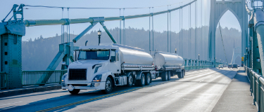 Tractor trailer pulling cargo